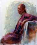 "Girl in Kimono - 20"" x 16"" - Oil on Canvas - Tae Park"