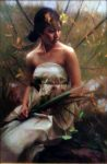 "Nymph in the Forest - 36"" x 24 - Oil on Canvas - Tae Park"