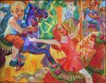 "Childhood - 8"" x 10"" - Oil on Canvas - Lyuba Titovets"