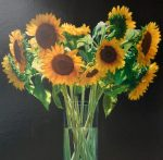 "Sunflowers - 40"" x 32"" - Oil on Canvas - Yingzhao Liu"