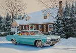 "Christmas in my Chevrolet- 14"" x 20"" - Oil on Canvas - Ken Eberts"