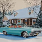 "Christmas in My Chevrolet - 14"" x 20"" - Oil on Canvas - Ken Eberts"