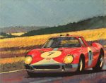 "Ferrari 12 hrs. Reims - 8"" x 10"" - Oil on Canvas - Barry Rowe"