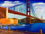 "Golden Gate - 30"" x 40"" - Oil on Canvas - Russ Wagner"