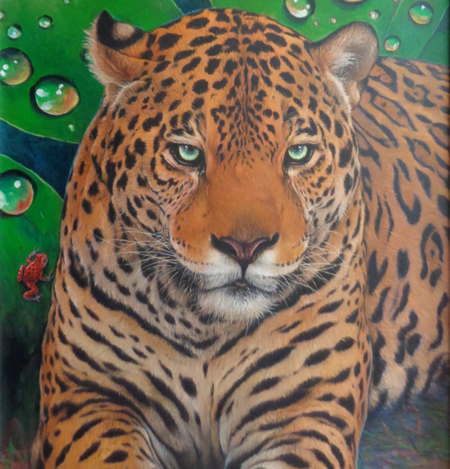 "Bengal Tiger - 40"" x 30"" - Oil on Canvas - Wayne Weberbauer"