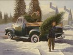 "Christmas Pick-up - 16"" x 12"" - Oil on Canvas - Gary Whinn"