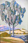 "Young Eucalyptus - 14"" x 21"" - Acrylic - Jack Cassinetto"