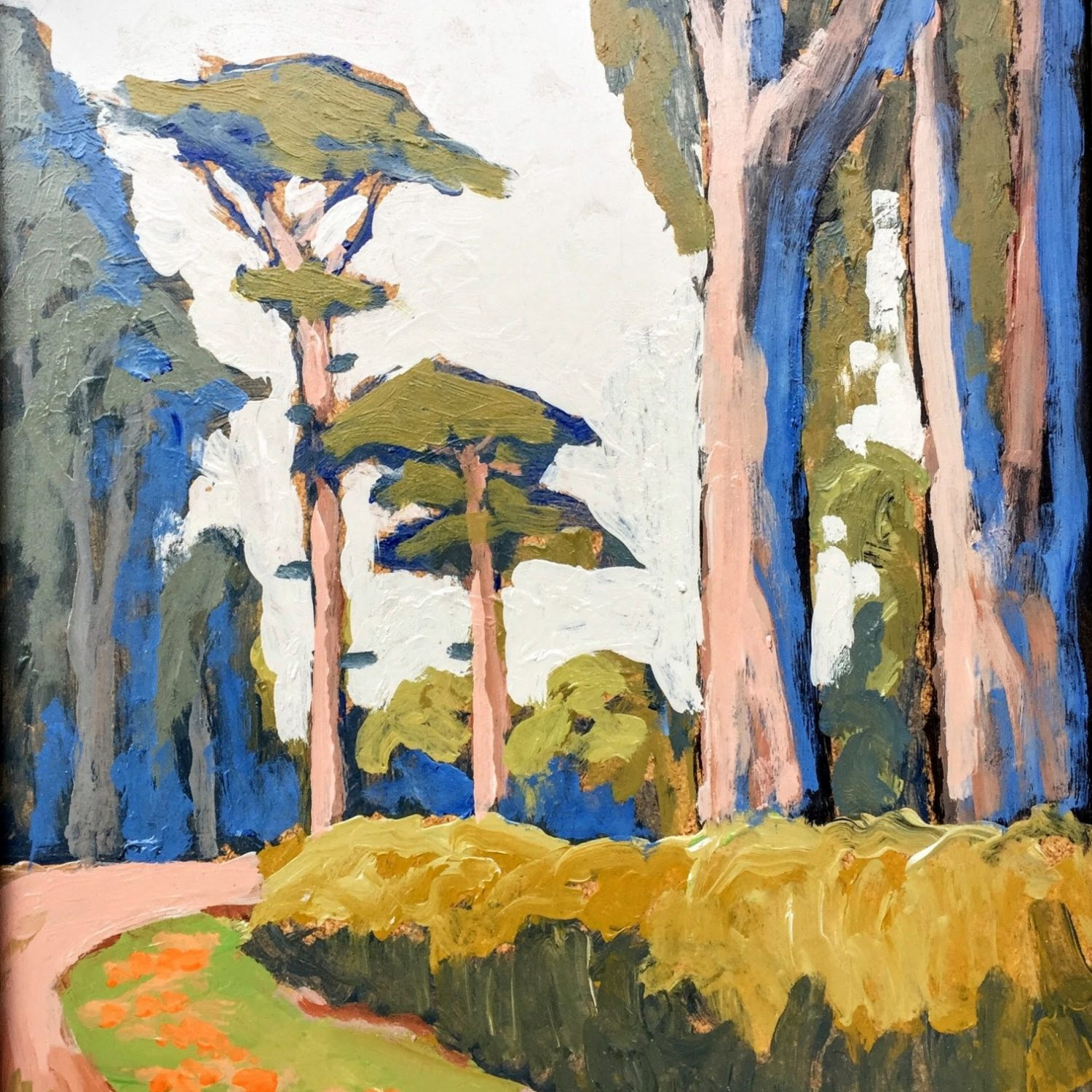 "Cypress Pathway - 11"" x 14"" - Acrylic - Jack Cassinetto"