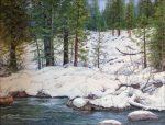 "Winter Day Strawberry - 14"" x 18"" - Oil on Canvas - Barbara Conley"