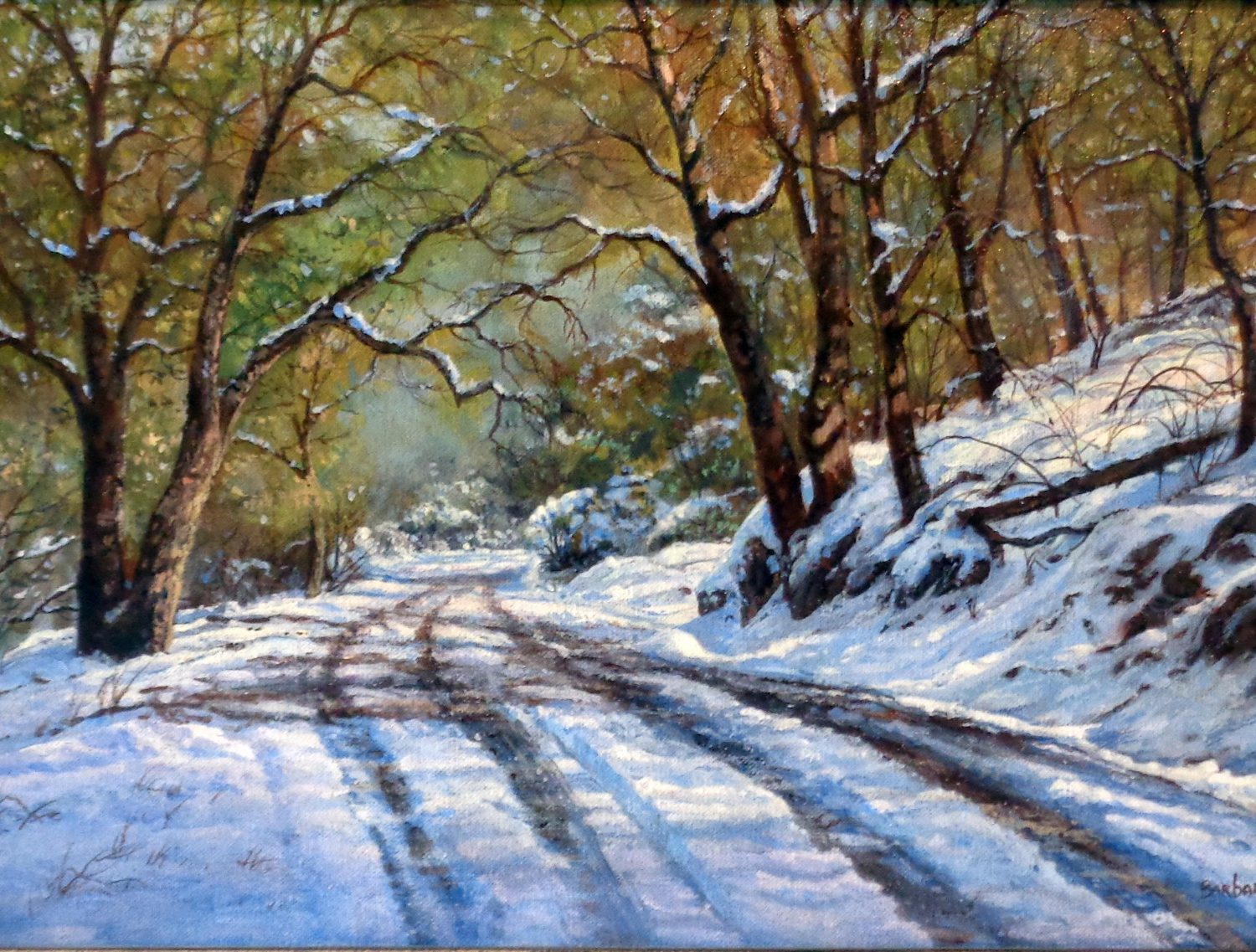 """February Afternoon, Sonora - 12"""" x 20"""" - Oil on Canvas - Barbara Conley"""