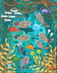 "Kelp Forest Frolic 3 - 10"" x 8"" - Oil on Canvas - Merry Kohn Buvia"