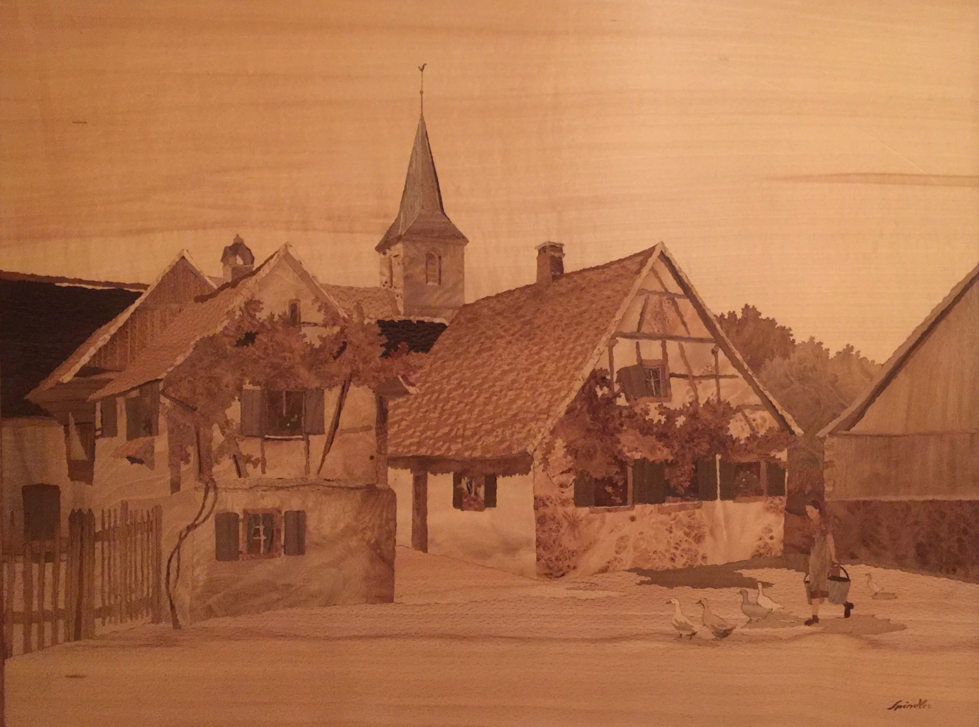 artist jean charles spindler marquetry paintings for sale