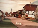 """Obersteinbach - 13.5"""" x 17.5"""" - Marquetry - Jean Charles Spindler"""