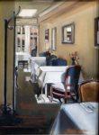 "Parisien Dining - 10"" x 12"" - Oil on Canvas - Thalia Stratton"
