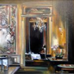 """French Dining - 24"""" x 18"""" - Oil on Canvas - Thalia Stratton"""