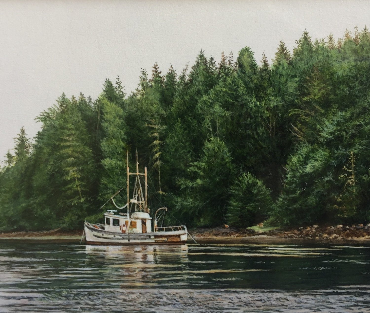 "On the Water - 2"" x 3"" - Acrylic - Tiffany Hastie"