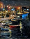 "Monterey Lights - 9"" x 12"" - Oil - Jason Sacran"