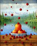 "It's Raining Cherries - 16"" x 20"" - Oil - Jared Sines"