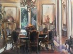 "A French Salon - 12"" x 16"" - Oil on Canvas - Thalia Stratton"