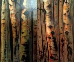 "Dark Aspens Diptych - 60"" x 36"" - Kenneth Ray Wilson"