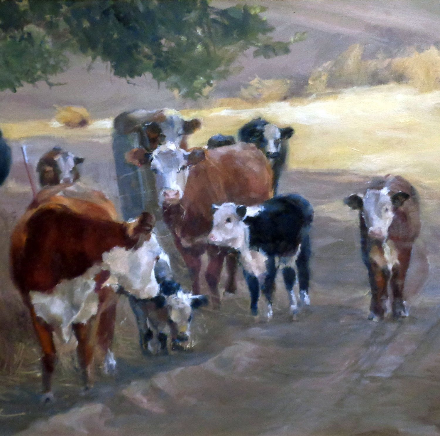 "Family Reunion Gathering - 30"" x 24"" - Oil - Daria Schachmut"
