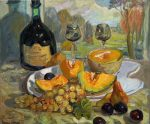 "Harvest in Eragny - 20"" x 24"" - Oil on Canvas - Lyuba Titovets"