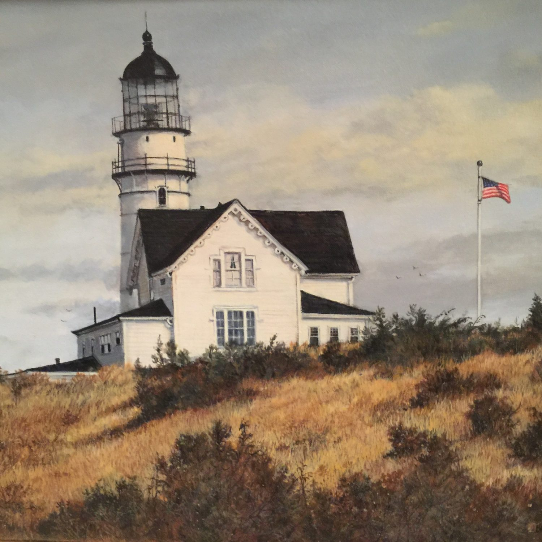 "Cape Elizabeth Light - 16"" x 20"" - Oil - Barbara Conley"