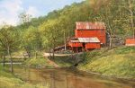 "Hodgson Water Mill - 24"" x 36"" - Oil - Barbara Conley"