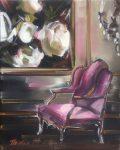 """Fuschia Flora - 10"""" x 8"""" - Oil on Canvas - Thalia Stratton"""