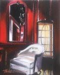 "Red Rouge Li - 10"" x 8"" - Oil on Canvas - Thalia Stratton"