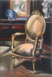 "Victorian Yellowbird - 10"" x 8"" - Oil on Canvas - Thalia Stratton"