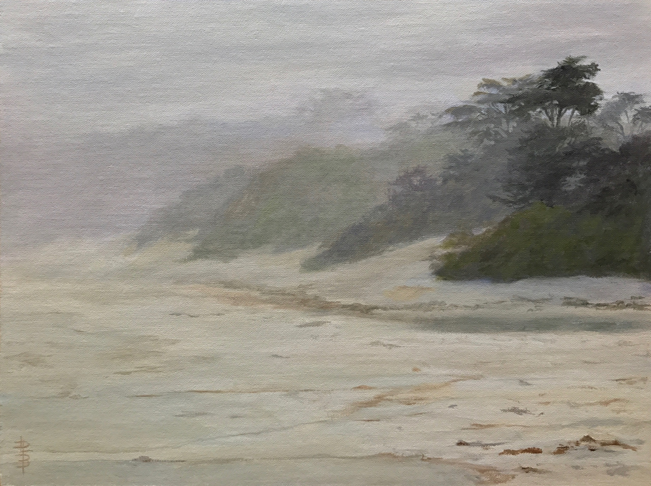 "Misty Morning - 12"" x 16"" - Linda Petrie Bunch"