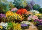 "Garden Extraordinaire - 38"" x 52"" - Scott Wallis"