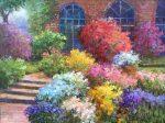 "Italian Garden House - 30"" x 40"" - Scott Wallis"