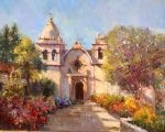 "Mission Light & Shadow - 24"" x 30"" - Scott Wallis"