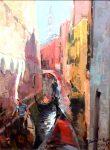 """Venice Canal Sunrise - 24"""" x 18"""" - Jove Wang"""