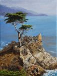 "The Lone Cypress - 12"" x 9"" - Linda Petrie Bunch"