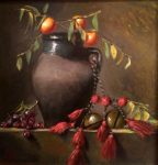 "Camel Bells & Grapes | 12"" x 12"" 
