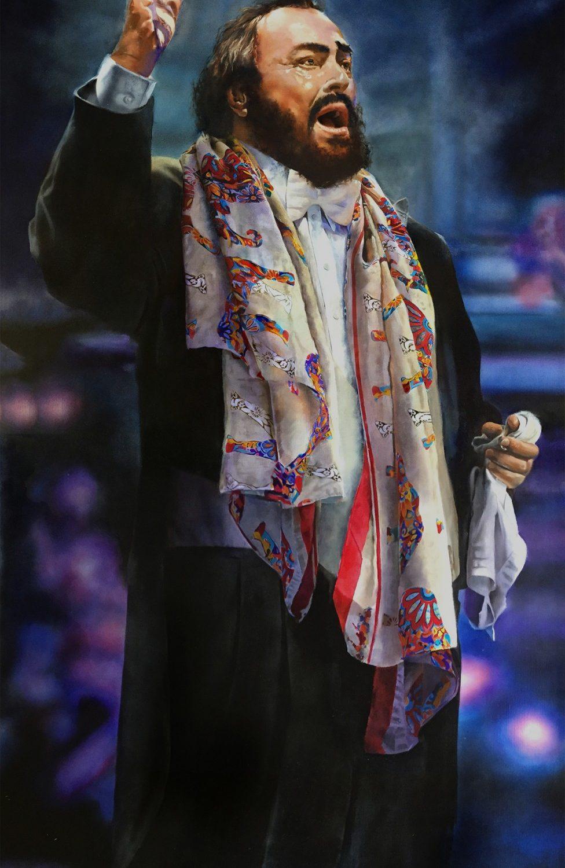"Pavarotti | 72"" x 36"" | Edwin Herder"