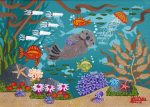 """Monterey Bay Otters 3   5"""" x 7""""   Merry Kohn Buvia"""