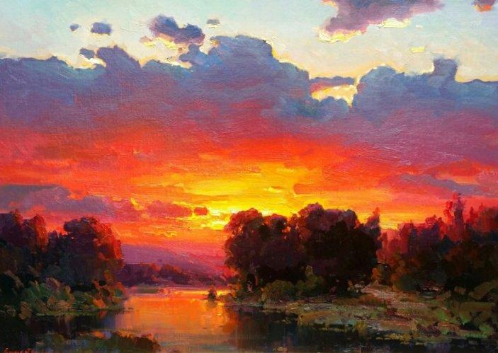 "November Sunset | 32"" x 45"" | Ovanes Berberian"