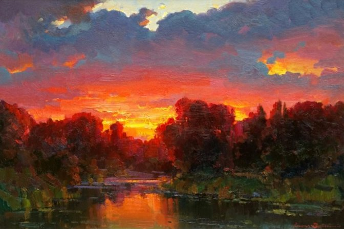 "Sunset Glow | 24"" x 36"" | Ovanes Berberian"