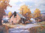"Farm in Autumn, Central Utah | 16"" x 22"" | Ian Ramsay"