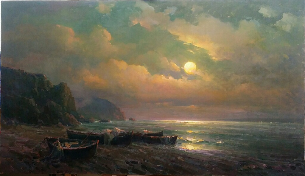 "Moonlit Night | 37"" x 64"" 