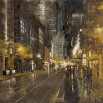 "Market Street at Night | 36"" x 36"" | Richard Boyer"