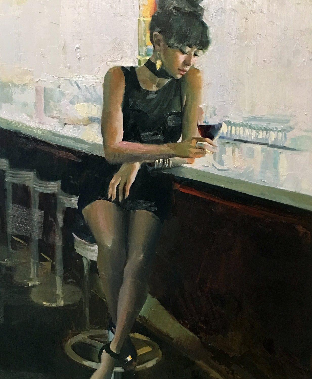 "Merlot | 36"" x 24"" | Nancy Crookston"