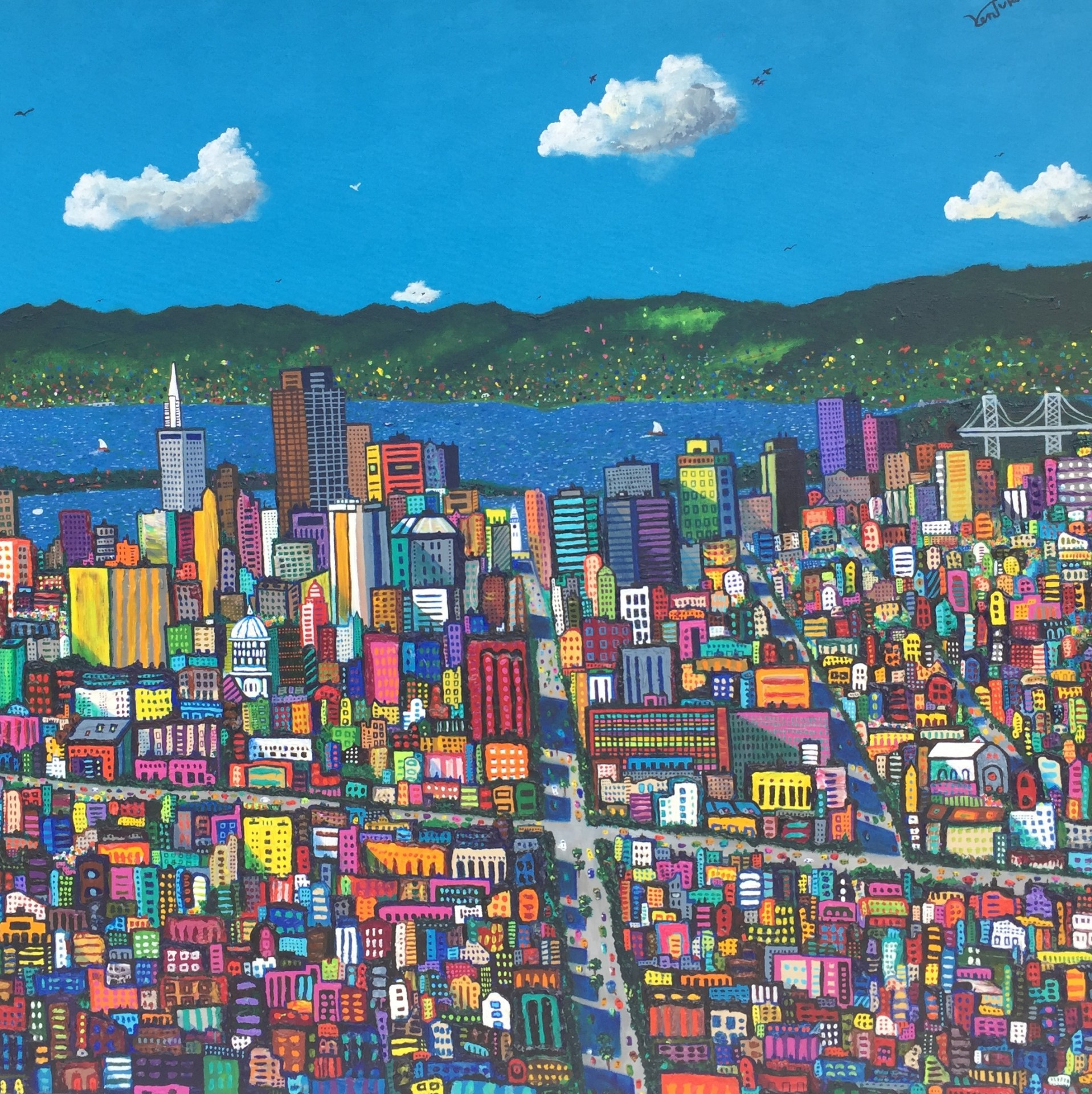 "San Francisco Spring | 36"" x 36"" | Paul Ventura"