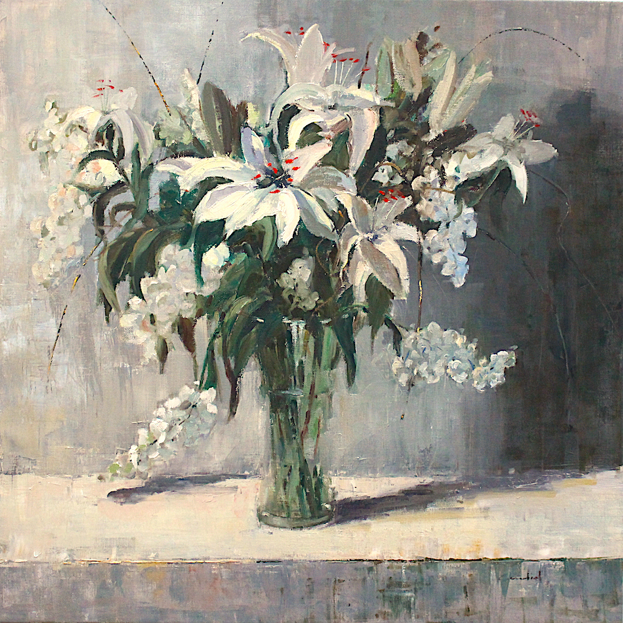 "Lilies | 30"" x 30"" | Philippe Gandiol"