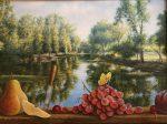 "Still Life at Clear Lake | 12"" x 16"" | Jared Sines"