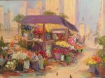 "San Francisco Flower Market | 12"" x 16"" | Dorothy Spangler"